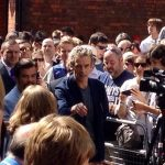 Edward at an event in Central Cardiff with Peter Capaldi